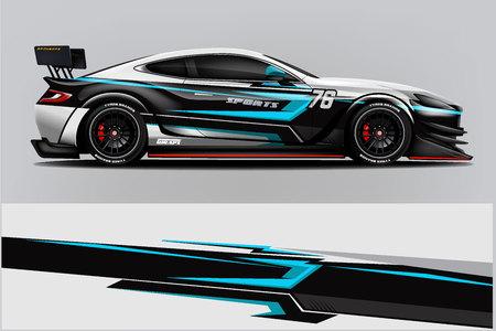 Photo pour Sport car racing wrap design. vector design. - Vector - image libre de droit