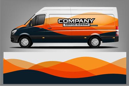 Illustration pour Van car Wrap design for company - image libre de droit