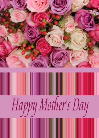 Pastel roses mother s day card
