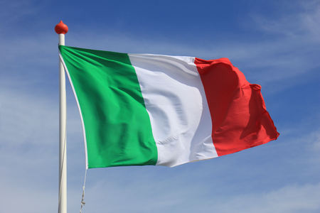 Photo for Italian Flag in red, white and green - Royalty Free Image
