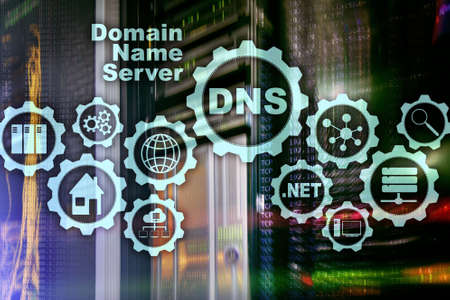 Photo for DNS. Domain Name System. Network Web Communication. Internet and digital technology concept. - Royalty Free Image