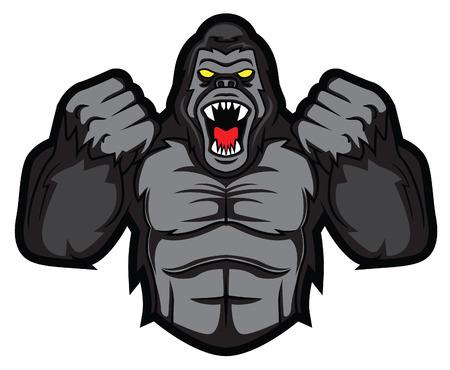 Illustration pour gorilla angry - image libre de droit