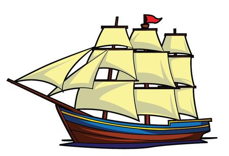 Illustration pour Ship Boat - image libre de droit