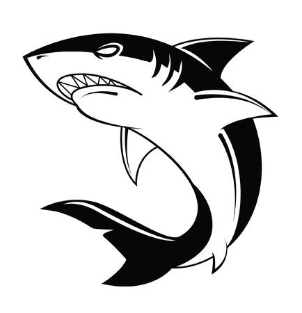 Ilustración de Shark Vector Illustration - Imagen libre de derechos