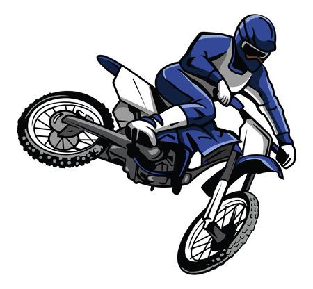 Illustration pour moto cross rider - image libre de droit