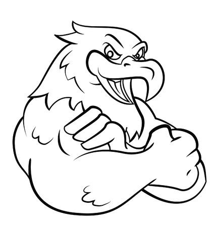 Illustration pour Strong Eagle - image libre de droit