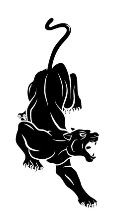 Illustration for Panther Tattoo - Royalty Free Image