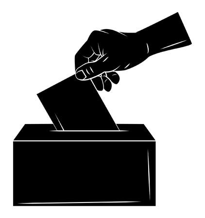 Illustration pour Vote Hand - image libre de droit