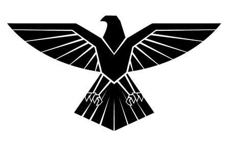 Illustration pour Black Silhoutte Of Eagle Symbol - image libre de droit