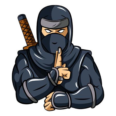 Illustration pour Ninja Mascot - image libre de droit