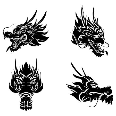 Illustration pour Dragon Head - image libre de droit