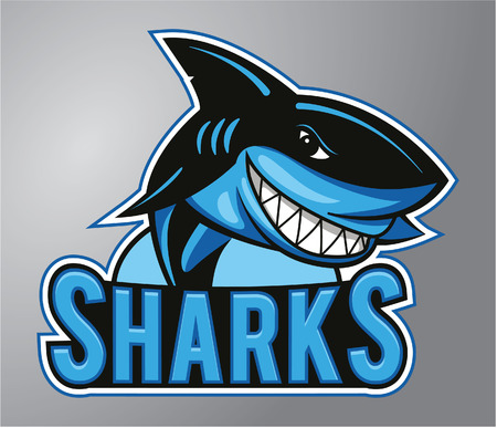 Ilustración de Sharks Mascot - Imagen libre de derechos