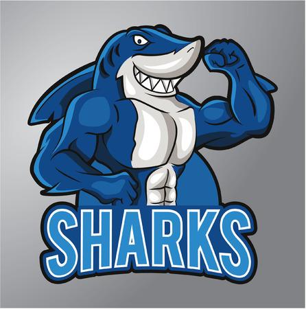 Illustrazione per Sharks Mascot - Immagini Royalty Free