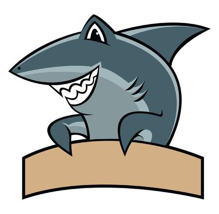 Ilustración de Shark cartoon mascot - Imagen libre de derechos