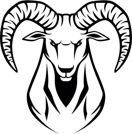 Illustration for wild Ibex - Royalty Free Image