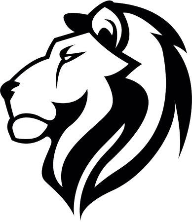 Illustration pour Lion Head illustration design - image libre de droit