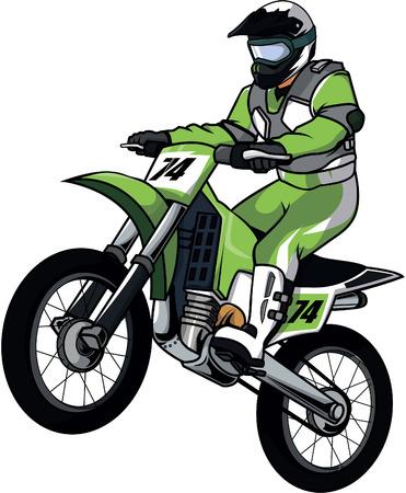 Illustration pour Motor cross illustration design - image libre de droit