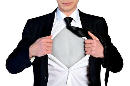 Photo pour Super hero concept business man - image libre de droit
