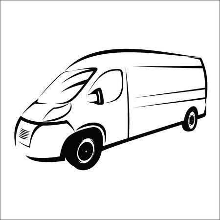 Illustration pour Van symbol - image libre de droit