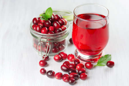 Photo for Fresh cranberry juice. Small depth of field - Royalty Free Image