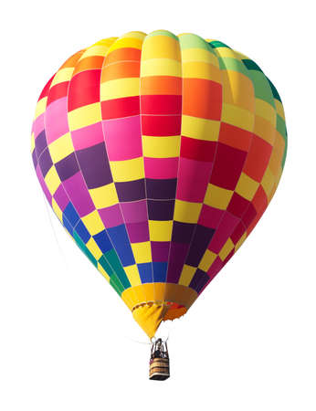 Photo for Colorful Hot Air Balloon Isolated on White Background - Royalty Free Image
