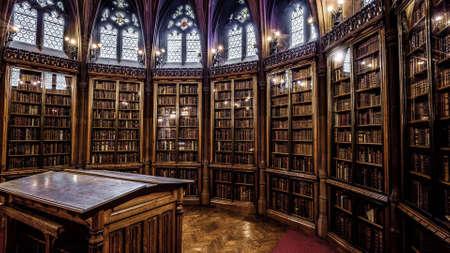 Photo pour A cool looking library - image libre de droit
