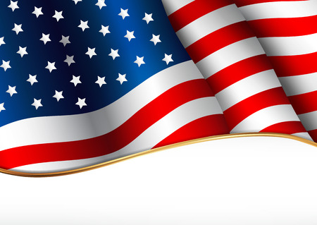 Illustration for American flag - Royalty Free Image