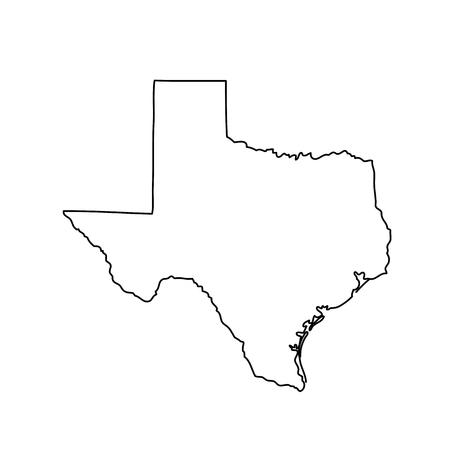 Ilustración de map of the U.S. state of Texas - Imagen libre de derechos