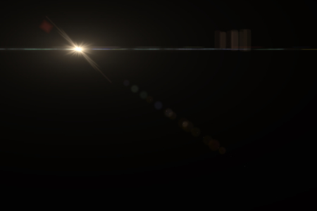 Photo for Anamorphic Lens Flare on Black Background - Royalty Free Image