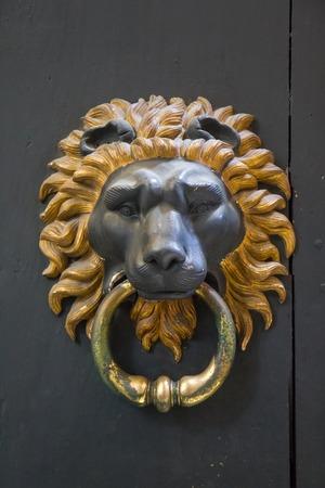 Photo pour Lion door knocker - Rome, Italy - image libre de droit