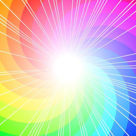 Illustration pour colorful curl, vector background with copy-space - image libre de droit