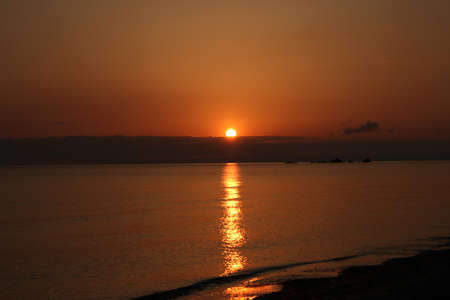 Beautiful sunrise on Tsilivi