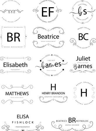 Photo pour Retro Vintage Insignias or Logotypes set. Vector design elements. - image libre de droit