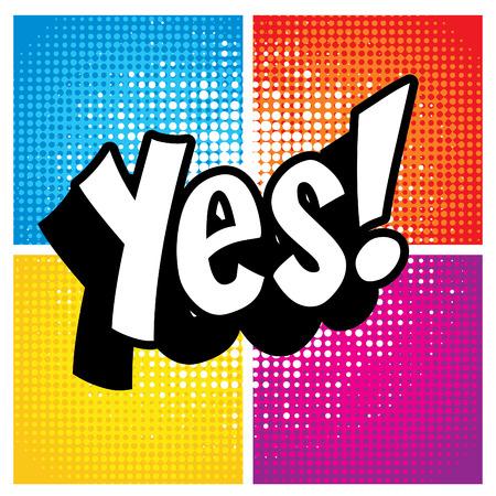 Illustration pour Pop Art comics icon Yes! - image libre de droit