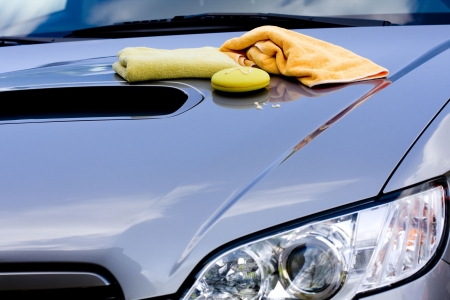 Cleaning the Car - waxing process