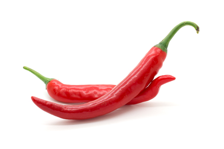 Photo for Hot red chili or chilli pepper isolated on white background. - Royalty Free Image
