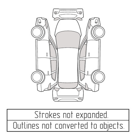 Photo pour car suv nspectoin form drawing outline strokes not expanded - image libre de droit