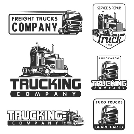 Illustration pour big truck car logo illustration vector design - image libre de droit