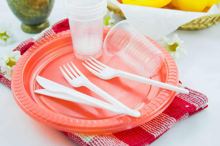 plastic disposable tableware