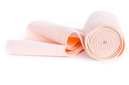 Photo pour Medical bandage on a white background - image libre de droit