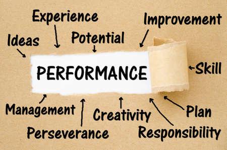 Photo pour Key performance indicator (kpi) concept on torn paper background. - image libre de droit