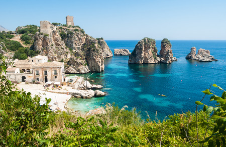 Photo for Faraglioni and Tonnara at Scopello, Sicily, Italy - Royalty Free Image