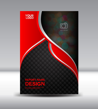 Illustration pour Red and black Cover design and Cover Annual report booklet flyer template vector illustration - image libre de droit
