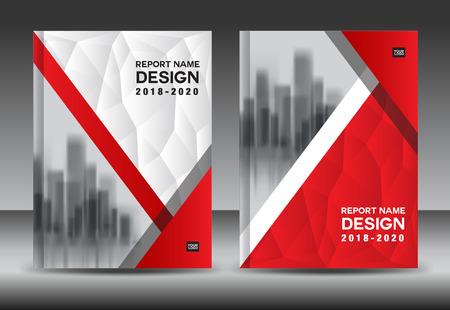 Ilustración de Annual report brochure flyer template, red cover design, business advertisement, magazine ads, catalog vector layout in A4 size - Imagen libre de derechos