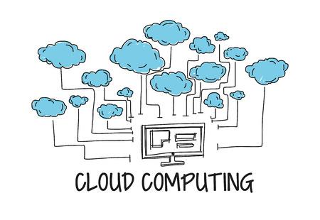 Illustration pour Cloud Computing - image libre de droit
