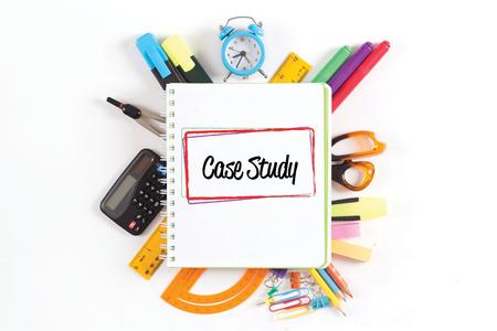 Foto de CASE STUDY concept - Imagen libre de derechos