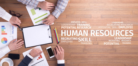 Foto per Business Concept: Human Resources Word Cloud - Immagine Royalty Free