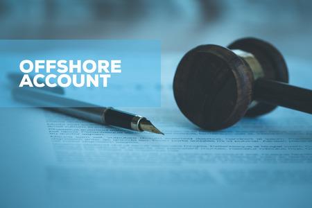 Photo pour OFFSHORE ACCOUNT CONCEPT - image libre de droit