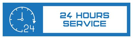 Illustration pour 24 Hours Service Fill Icon Concept - image libre de droit