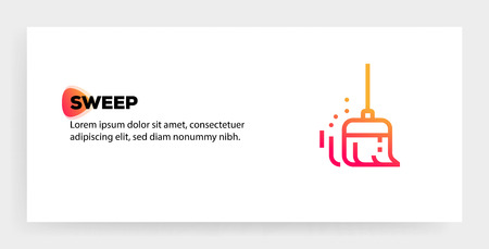 Illustration pour SWEEP ICON CONCEPT - image libre de droit